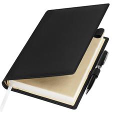 Ежедневник-портфолио недатированный с ручкой Portobello Clip А5, черный фото