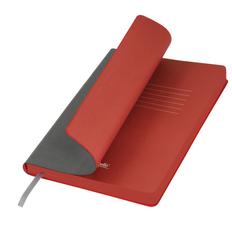 Ежедневник недатированный Portobello Trend River Side, темно-серый/ красный фото