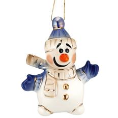 Игрушка елочная Olaf фарфоровая, разноцветная фото