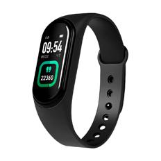 Фитнес-браслет с функцией термометра Geozon Heart Rate, черные фото