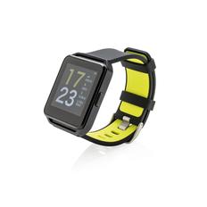 Фитнес часы XD Collection с цветным дисплеем, черные/зеленые фото