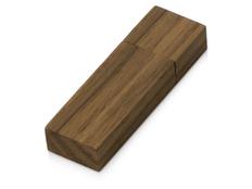 Флешка деревянная с магнитным колпачком 16 Гб Woody, коричневая фото