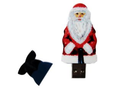 Флешка пластиковая 128 Гб Дед Мороз, красная/ белая фото