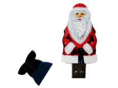 Флешка пластиковая 64 Гб Дед Мороз, красная/ белая фото