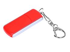 Флешка промо USB 2.0 на 4 Гб с прямоугольной формы с выдвижным механизмом, красная фото