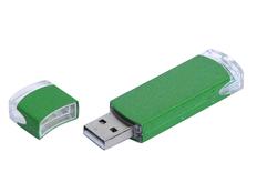 Флешка промо USB 3.0 на 64 Гб прямоугольной классической формы, зелёная фото