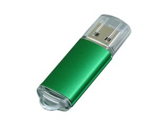 Флешка USB 2.0 на 4 Гб с прозрачным колпачком, зелёная фото