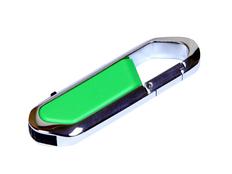 Флешка USB 2.0 на 8 Гб в виде карабина, зелёная фото