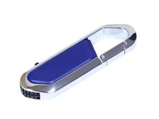 Флешка USB 2.0 на 8 Гб в виде карабина, синяя фото