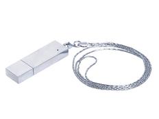 Флешка USB 2.0 на 8 Гб в виде металлического слитка, серебряная фото