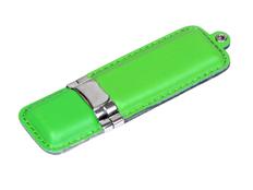 Флешка USB 3.0 на 64 Гб классической прямоугольной формы, зелёная фото