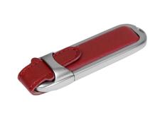 Флешка USB 3.0 на 64 Гб с массивным классическим корпусом, коричневая фото