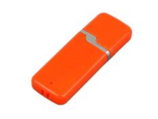 Флешка USB 3.0 на 64 Гб с оригинальным колпачком, оранжевая фото