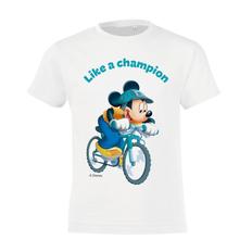 Футболка детская «Микки Маус. Like A Сhampion!», белая фото