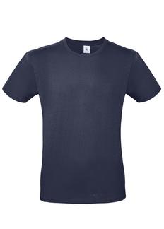 Футболка мужская B&C E150, темно-синяя фото