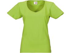 Футболка женская с V образным вырезом US Basic Heavy Super Club, зеленое яблоко фото