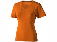 Футболка женская с V образным вырезом Elevate Kawartha, оранжевая фото