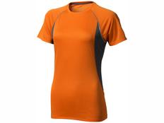 Футболка женская Elevate Quebec Cool Fit, оранжевая / черная фото