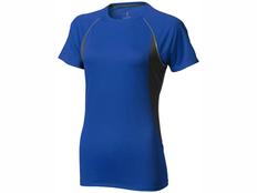 Футболка женская Elevate Quebec Cool Fit, синяя / черная фото