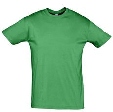 Футболка унисекс Sol's Regent 150, ярко-зеленая фото
