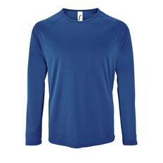 Лонгслив спортивный из сетки мужской Sol's Sporty LSL Men, ярко-синий фото