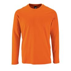 Футболка с длинным рукавом мужская Sol's Imperial LSL Men,оранжевая фото