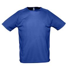 Футболка мужская Sol's Sporty 140, синяя фото