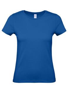 Футболка женская B&C E150, ярко-синяя фото