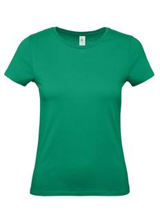 Футболка женская B&C E150, зеленая фото
