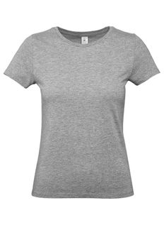 Футболка женская B&C E190, серый меланж фото