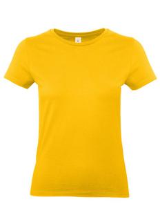 Футболка женская B&C E190, желтая фото
