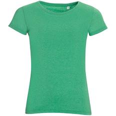 Футболка женская Sol's Mixed Women 150, зеленый меланж фото