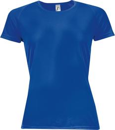 Футболка спортивная из сетки женская Sol's Sporty Women 140, ярко-синяя фото