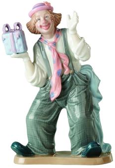 Фигурка фарфоровая House Design Клоун с подарком, разноцветная фото