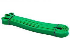 Фитнес-резинка, нагрузка 17-54 кг, латекс, зеленая фото