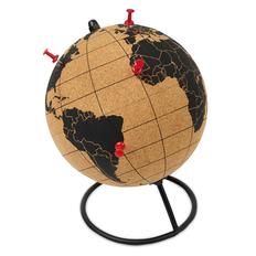 Глобус из пробки, коричневый фото