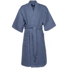 Халат вафельный мужской Boho Kimono, синий фото