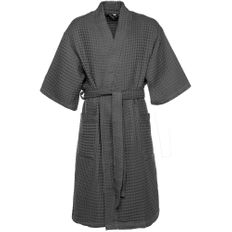 Халат вафельный мужской Boho Kimono, темно-серый фото