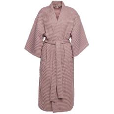 Халат вафельный женский Boho Kimono, пыльно-розовый фото