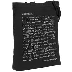 Холщовая сумка «Да будет свет», с люминесцентным принтом фото