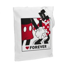 Холщовая сумка «Микки и Минни. Love Forever», белая фото