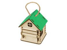 Игрушка-упаковка Домик из фанеры, зеленая фото