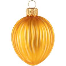 Игрушка елочная «Грецкий орех», желтая фото