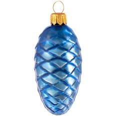 Игрушка елочная «Шишка», синяя фото