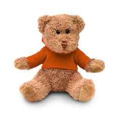 Игрушка плюшевая Johnny в футболке, коричневая / оранжевая фото