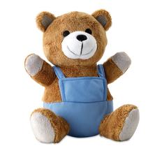 Игрушка «Плюшевый Медведь», коричневая / синяя фото