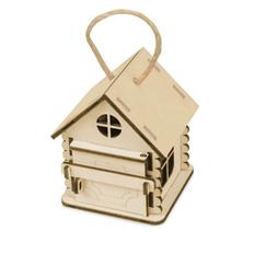 Игрушка-упаковка Домик из фанеры, бежевая фото
