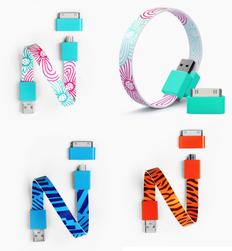 Кабели USB в форме браслета фото