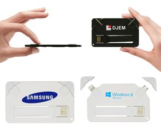 Кабели USB в форме визитки фото