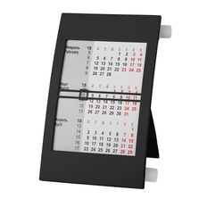 Календарь настольный на 2 года, черный/ белый фото